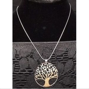sterling silver tree of life chain and pendent